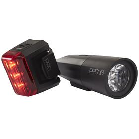 Cube Pro 18 - Kit éclairage vélo - noir